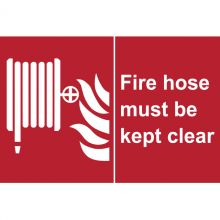 Dependable Fire Hose Must be Kept Clear Signs