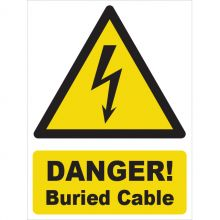 Dependable Danger! Buried Cable Signs