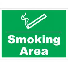Dependable Smoking Area Signs