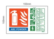 Dependable ABC Powder Sign