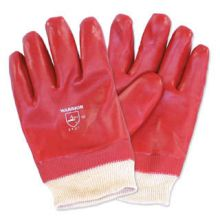 Dependable Red PVC Dipped Gloves