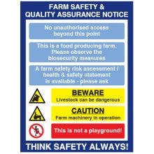 Dependable Farm Safety & Quality Sign