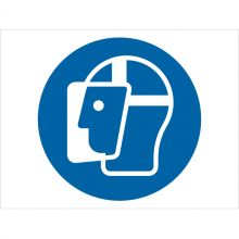Dependable Wear Face Shield Symbol Signs