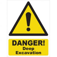 Dependable Danger! Deep Excavation Signs