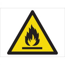 Dependable Warning! Flammable Materials Symbol Signs