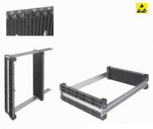 Wez Suisse Rack PCB Holders 100 Series ESD - Slotted Partitions