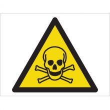 Dependable Warning! Toxic Material Symbol Signs