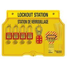 Master Lock 4-Lock Lockout Stations