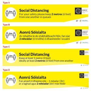 COVID-19 Social Distancing Floor Labels