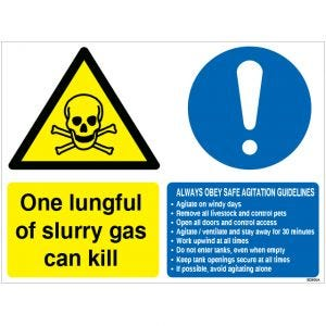 Dependable Slurry Pit Sign