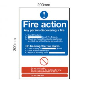 Dependable Fire Action Sign