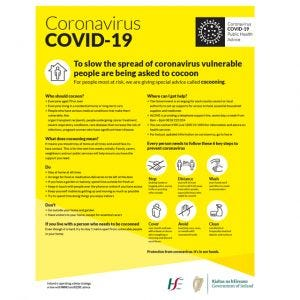 COVID-19 Cocoon Information Self-Adhesive Poster