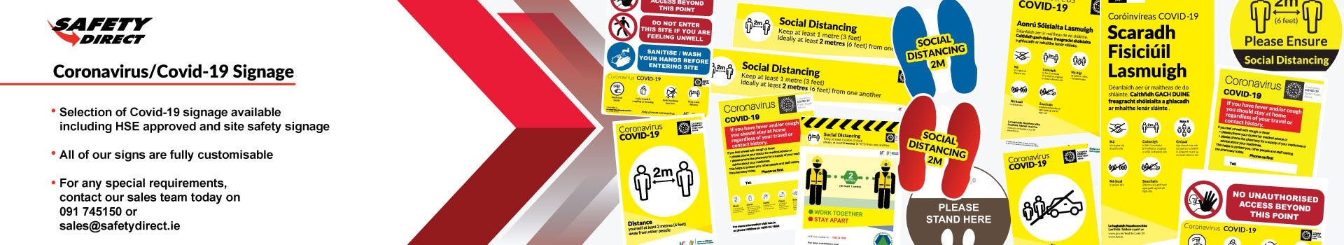 Coronavirus/Covid 19 Signage and Labels
