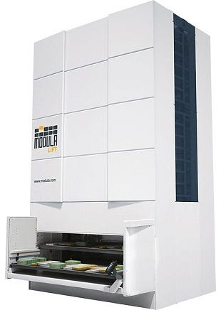 Modula Automatic Vertical Storage Systems
