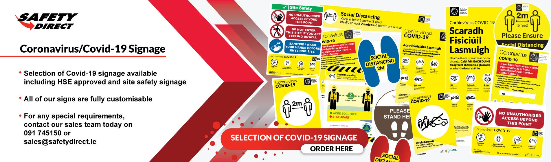 Coronavirus/Covid 19 Signage and Labels